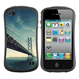 Paccase / Suave TPU GEL Caso Carcasa de Protección Funda para - Architecture USA Beautiful San Fran SF Bridge - Apple Iphone 4 / 4S