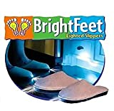 Bright Feet Lighted Slippers- Adult- Blue (Large)