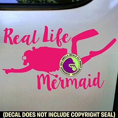 REAL LIFE MERMAID SCUBA Diver Diving Vinyl Decal Sticker C