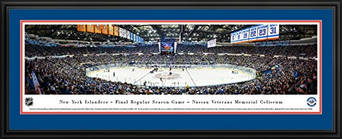 Framed Coliseum (New York Islanders - Final Game at Nassau Coliseum - Blakeway Panoramas NHL Posters with Deluxe Frame)