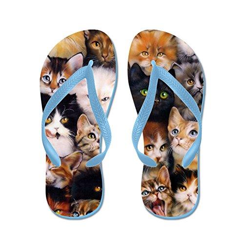 Cafepress Cats - Flip Flops, Grappige String Sandalen, Strand Sandalen Caribbean Blue