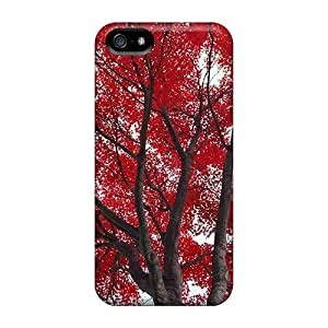 Faddish Phone Tree Of Red Leaves Cases For Samsung Galxy S4 I9500/I9502 / Perfect Cases Covers