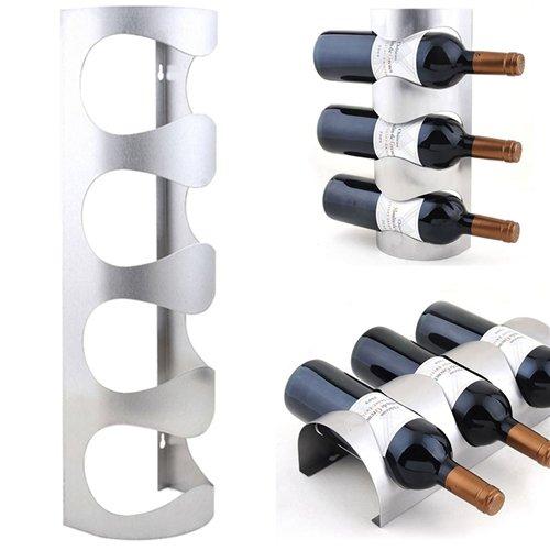 3 Bottle Bookend Wine Rack - Wine Wall - 3 4 Bottles Metal Wine Rack Wall Mounted Bar Bottle Holders Storage Grade Household - Balance Shelves Nautical Stands Baseball Insert Gift Dragon Holders Mount Travel Tropical