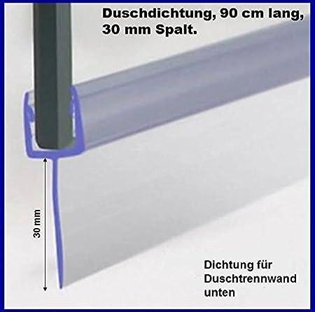 Duschdichtung für 5-6mm Duschtrennwand unten 90 cm lang Höhe der Lippe 30mm