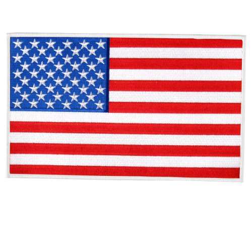 """Hot Leathers American Flag Border Patch (3"""" Width x 2"""" Height)"""