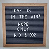 10x10 Inch Gray Felt Letter Board - Plentiful 680