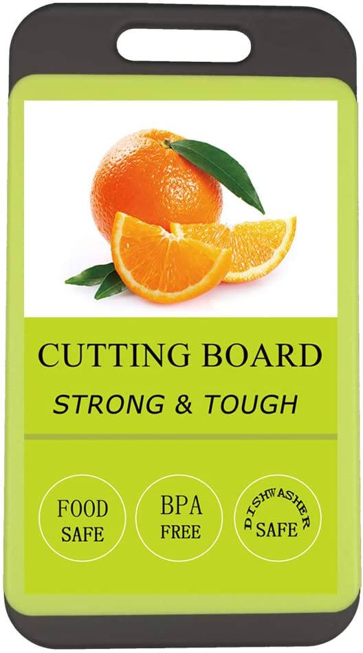 Kitchen Cutting Board, BPA-Free, Dishwasher Safe, Juice Grooves, Thicker Boards, Easy Grip Handle, Non Porous, 2 Pack(Small)