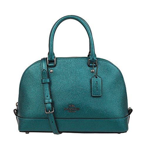Sierra Teal Inclined Satchel Shoulder Dark Mini Women��s Coach Qb Purse Metallic Shoulder Handbag q7EYpE