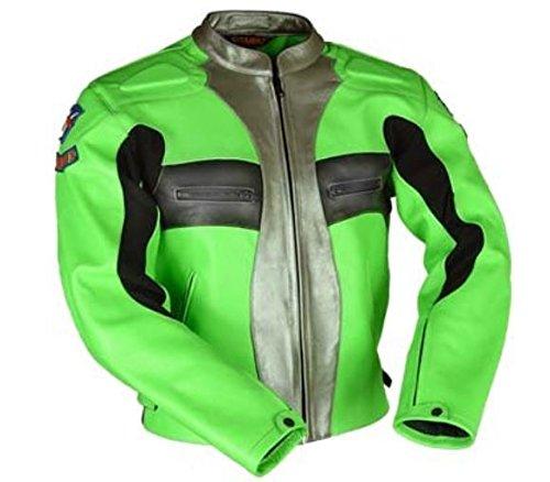 Touring Magnesium (VJ LEATHER JACKET Motorcycle Sports Biker Touring Green 46)