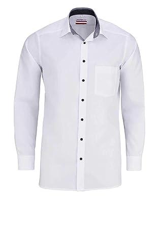 Marvelis - Chemise Business - Uni - Col Chemise Classique - Homme - Blanc -  Taille ea2a23b07c8