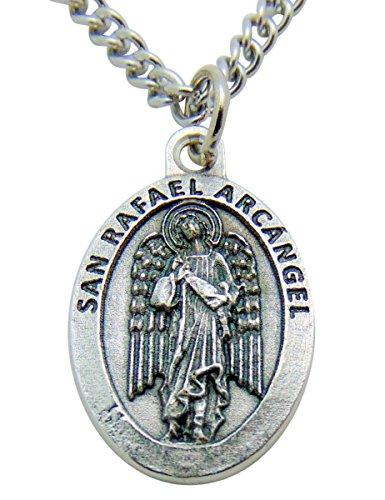 San Rafael (St Raphael Medal) Medalla Colgante 3/4 Pulgadas Con Cadena (Raphael Pendant Medal)