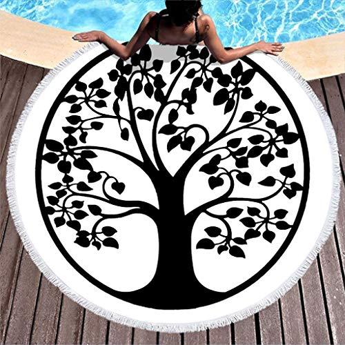 Yggdrasil - Toalla de playa redonda con diseño de árbol de la vida ...