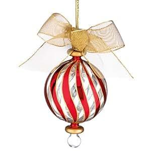 Lenox 838164 Peppermint Stripe Red Ornament