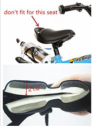 AISHEMI Children's Gift Bike Saddle Soft Pad Breathable Soft Comfortable Cycling Kids Bike Saddle Gel Seat Cushion Pad Cover 9''x6'' for Most Children Bicycle Tricycle Banlance Bike Saddle by AISHEMI (Image #6)