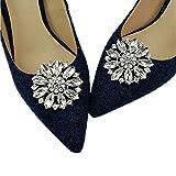 Casualfashion 2Pcs European Fashion Decorative Crystal Rhinestone Flower Shoes Clutch Dress Hat Shoe Clips