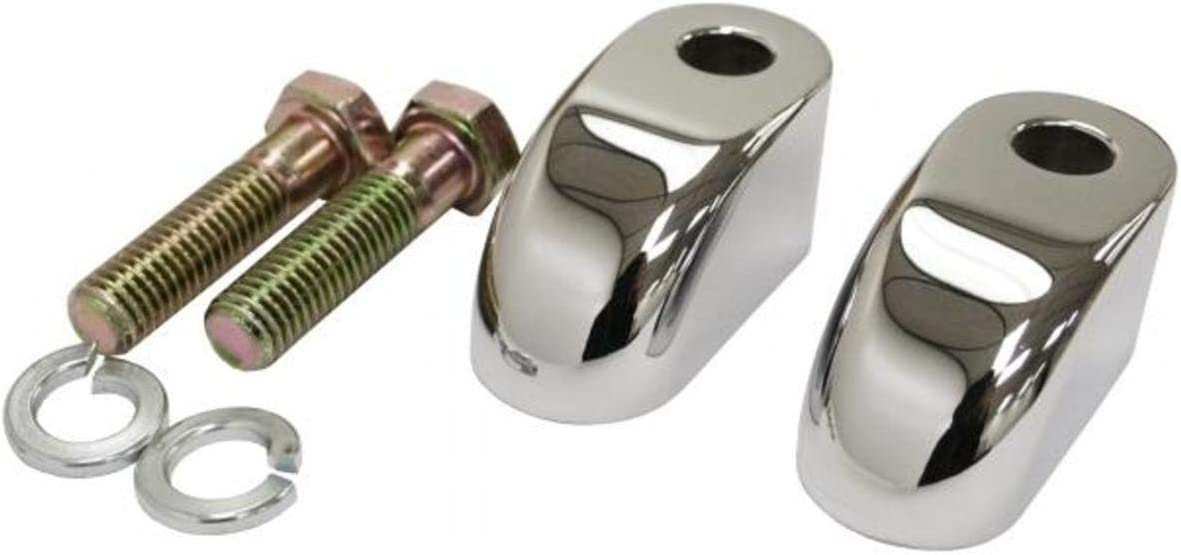 Chrome LA-7416-02 LA Choppers Pullback Extensions for Handlebar Risers 2in