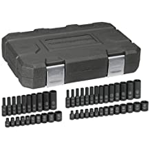 GearWrench 84902 1/4-Inch Drive Impact Socket Set SAE/Metric, 48-Piece