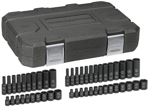 GearWrench 84902 1/4-Inch Drive Impact Socket Set SAE/Metric, 48-Piece (Impact Set Sae Socket)