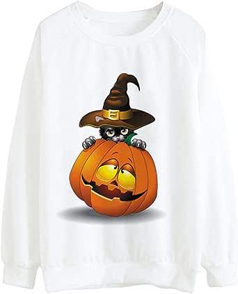 Blusa Blanca de Calabaza de Halloween, CovermasonBlusa Blanca de ...