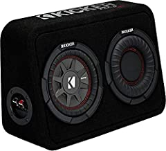 The CompRT Thin Profile 6-¾-Inch Subwoofer Enclosure comes loaded with a Reflex Subwoofer and RT Sub, then carpeted and loaded with a single 2-ohm terminal. Covered in sleek black carpeting and built with stout MDF construction & rounded ...