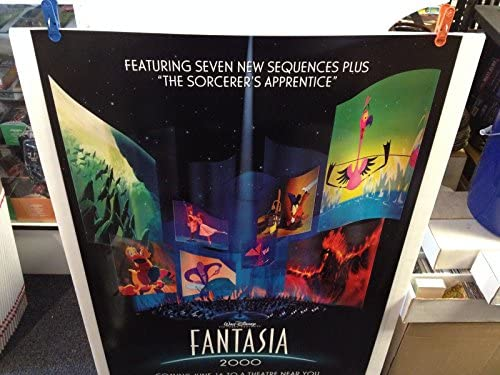 Walt Disney Fantasia 2000 Movie Poster 27x40 One Sheet Double Sided At Amazon S Sports Collectibles Store