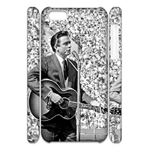 Clzpg 3D Custom Iphone 5C Case - Johnny Cash 3D phone case