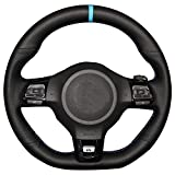 Genuine Leather Steering Wheel Cover for Volkswagen Golf 6 GTI MK6 VW Polo GTI Scirocco R Passat CC R-Line 2010