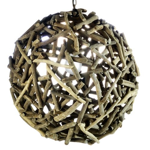 Natural Woven Pendant Light - 9