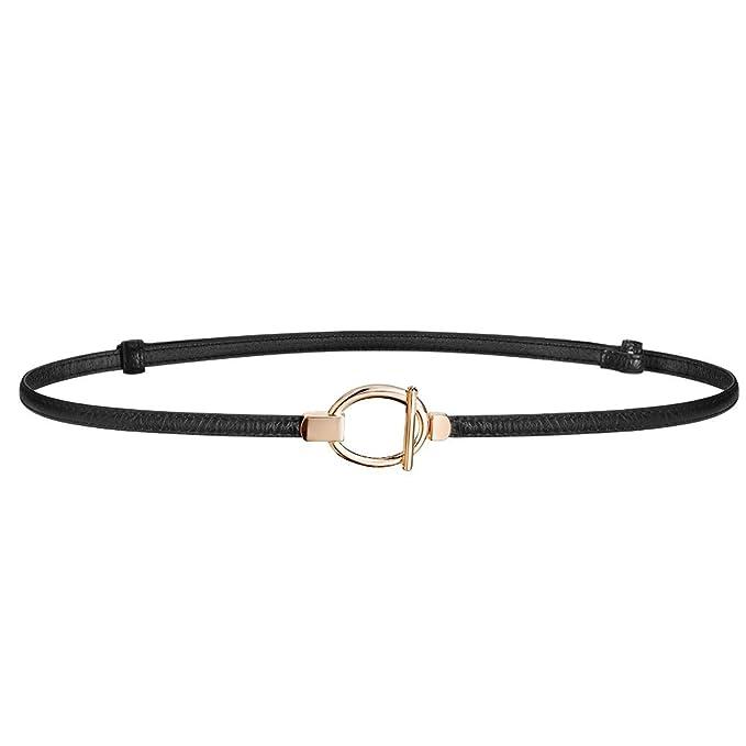 moderno ed elegante nella moda spedizione gratuita cercare HBF Cintura Sottile Donna in Pelle Accessori donna Cintura Nera Regolabile