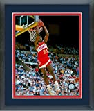 Dominique Wilkins Atlanta Hawks NBA Action Photo (Size: 22.5'' x 26.5'') Framed