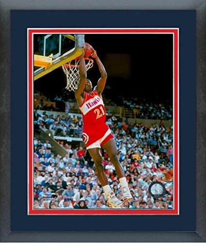 Dominique Wilkins Atlanta Hawks NBA Action Photo (Size: 22.5'' x 26.5'') Framed by Photo File