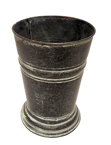 "Vintage Decor Metal Vase, 7"""