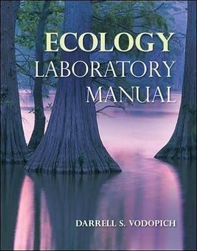 amazon com ecology laboratory manual 9780073383187 darrell s rh amazon com field ecology lab manual ecology lab manual pdf