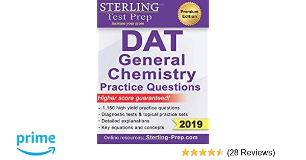 Amazon com: Sterling Test Prep DAT General Chemistry Practice
