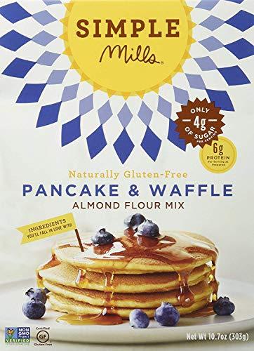 Simple Mills Almond Flour Mix, Pancake & Waffle, Naturally Gluten Free, 10.7 oz,...