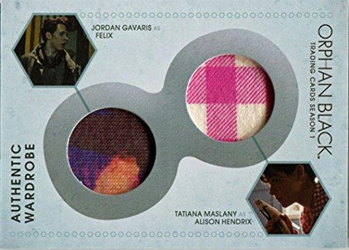 Orphan Black Season 1 DM3 Costume Wardrobe Card Tatiana Maslany Sarah & Allison