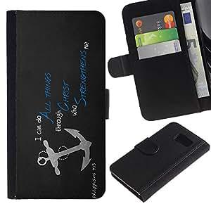All Phone Most Case / Oferta Especial Cáscara Funda de cuero Monedero Cubierta de proteccion Caso / Wallet Case for Sony Xperia Z3 Compact // All Things Through Christ JESUS