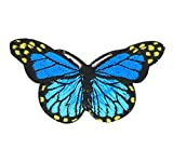 6PCS Embroidered Fabric Patches Sticker Iron Sew On Applique [Butterfly A]