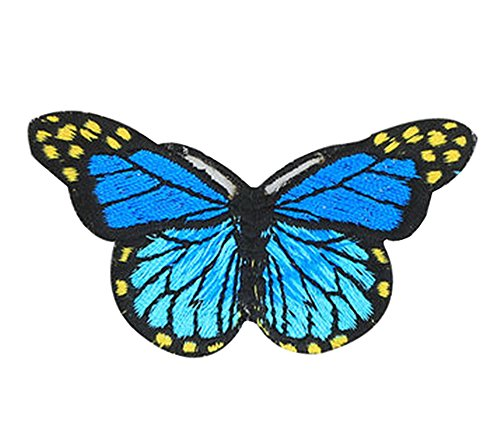 6PCS Embroidered Fabric Patches Sticker Iron Sew On Applique [Butterfly A] by Black Temptation