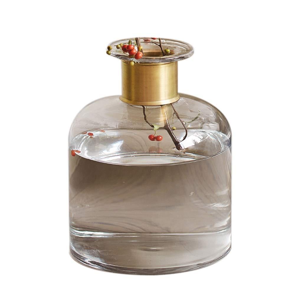 色ガラス花瓶用花緑植物結婚式の植木鉢装飾ホームオフィスデスク花瓶花バスケットフロア花瓶 (サイズ さいず : L l) B07R9P4XFS  L l