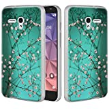 """Jitterbug Smart (5.5"""") Case, Linkertech Slim Air Armor Thin Fit Silicone Gel Soft TPU Bumper Durable Flex and Easy Grip Protective Case for Jitterbug Smart (5.5inch) (Plum Blossom)"""