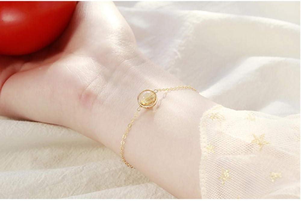 ZHAOZX Plata de Ley 925 Mujer Pulseras de la Suerte Cuarzo/Amatista/Aguamarina/Piedra de Luna/Perlas Piedras Preciosas Oro