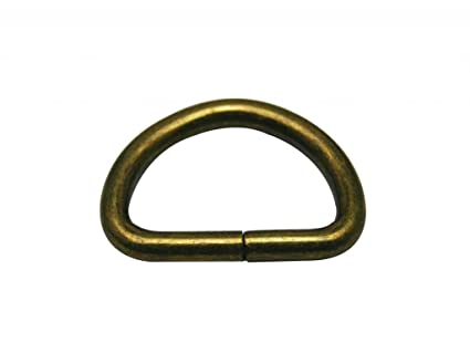 "0b36d25ba8da3 Image Unavailable. Image not available for. Color: Generic Metal Bronze D Ring  Buckle 1"" Inside Diameter Loop Ring for Strap Keeper Pack"