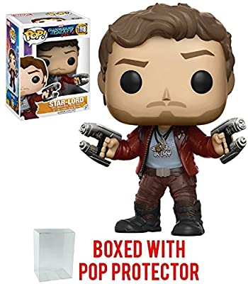 Funko Pop! Marvel: Guardians of the Galaxy Vol. 2 - Star Lord Vinyl Figure (Bundled with Pop Box Protector Case)