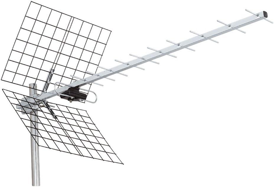 Antena Receptor señal UHF 12 elementos decodificador digital ...