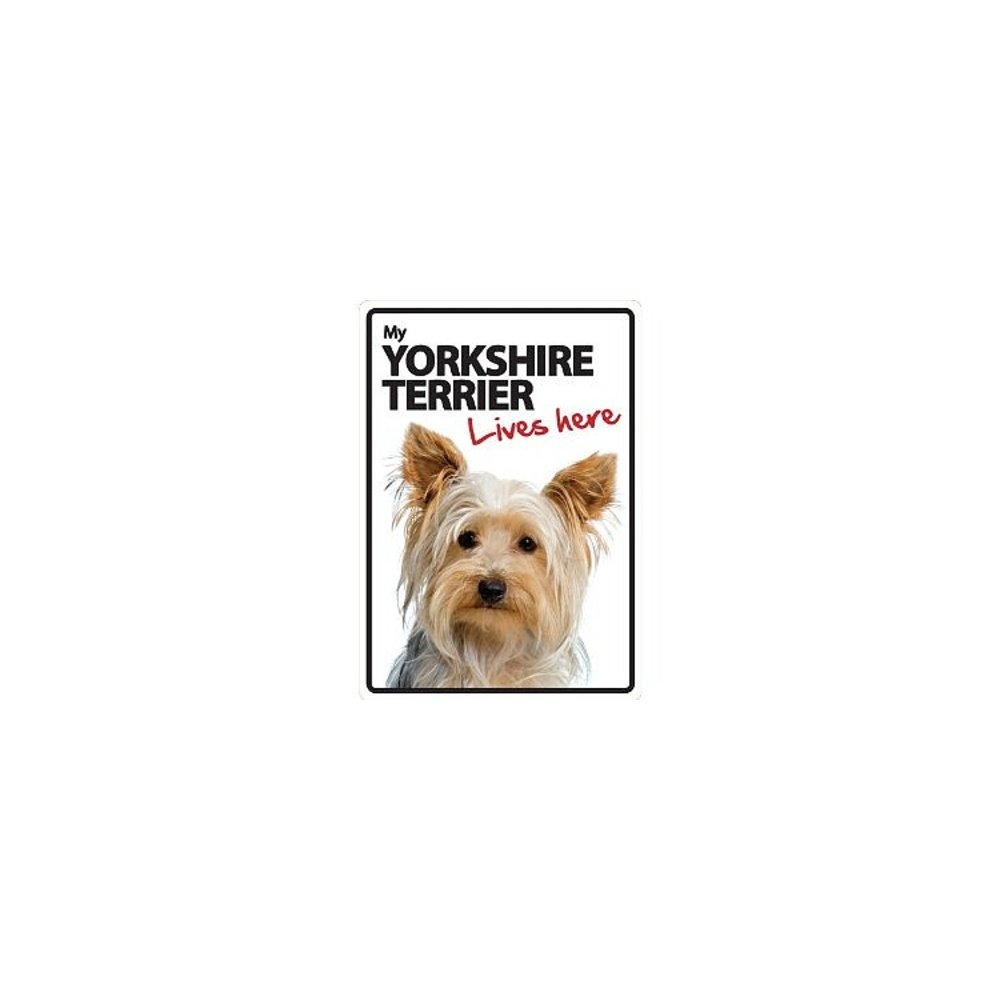 "/""My Yorkshire Terrier Lives Here/"" Sign"