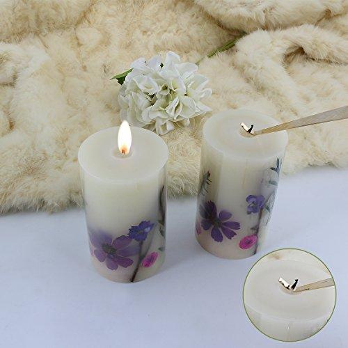 LOHOTEK Scented Candles White Tea Candle Soy Wax, Botanical Pillar Candles by LOHOTEK (Image #5)