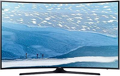 "Samsung UA-55KU7350 55"" UHD 4K Curved Multi-System Smart Wi-Fi LED TV 110-240 Volt w/ Free HDMI Cable"