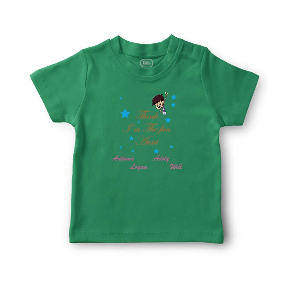 c1c09f3db5 Amazon.com: Personalized Custom Think I'm The Fun Aunt Cotton Boys-Girls  Toddler T-Shirt: Clothing