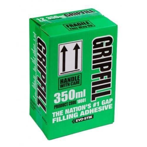 BOSTIK 18601 Gripfill Gap Filling Adhesive 350ml - Pack of 12 18601 BOSTIK